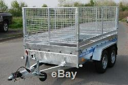 Car Cage Mesh Trailer 10x5 Twin Axle 2700kg High Mesh Sides Trailer Braked