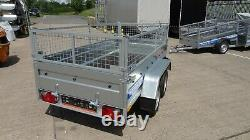 Car Cage Trailer 7x4 Twin Axle 750kg Flatbed Unbraked Trailer