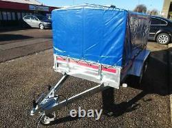 Car Camping Trailer Twin Axle 263 cm x 125 cm 750 kg Canvas Cover H 80cm