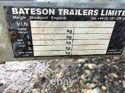 Car / Motorbike Workshop Transporter Display Box Bateson Tilt Twin Axle Trailer