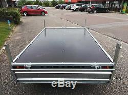 Car Trailer 10 x 5 Twin Axle Flat Bed Drop Sides 750kg