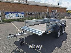 Car Trailer 265 x 132cm Unbraked 750kg Twin Axle 8.7 x 4.4ft