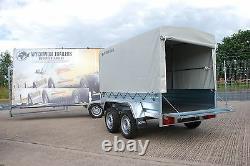 Car Trailer 8,2 X 4,2 Twin Axle 750kg + Free Canvas Cover 1,5m