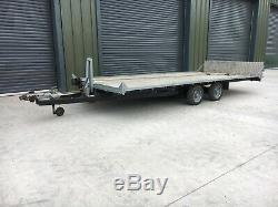 Car Transporter Trailer/Twin Axle TILT BED, 18x7.6 FT, Like Brian James, Winch