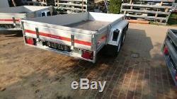 Car trailer 300cm x 150cm 2700kg aluminum side panel twin axle BRAKED