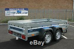 Car trailer Faro SOLIDUS twin axle 7'9x4'2 236cm x 125cm 750kg mulitipurpose