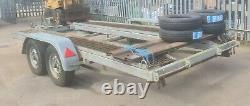 Car trailer twin axle