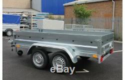 Car trailer twin axle 8'8x4'3 750kg tipping tipper NEPTUN