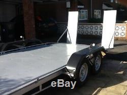Car trailer twin axle braked