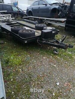 Car transport trailer twin axle Winch