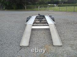 Car transporter trailer 16' twin axle with winch and ramps and spare wheel