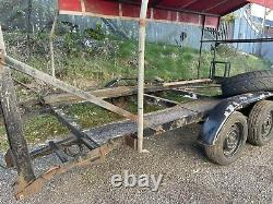 Car transporter trailer With Cover Twin Axle With Tyre Rack And Winch