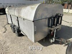 Covered car trailer transporter Twin Axle Enclosed Trailer Tilt With Winch