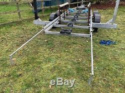 De Graaff twin axle 3000kg 8-9.5m galvanised boat trailer