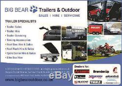 Debon PW3 3 WAY POWERED TIPPING TRAILER 3500kg MGW special offer with mesh sides