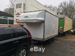 Ex Luton Lorry Body Heavy Duty Car Trailer Twin Axle Low Loading