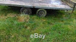 Flat Bed Twin Axle Trailer 12 X 6. B & B Trailers