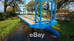 Flatbed Bale trailer 33ft twin axle