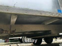 Galvanised 3.5 tonne twin axle blueline box trailer, 2 roller doors and step
