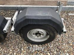 Galvanised Twin Axle Braked Boat Trailer