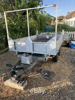 Galvanised twin axle 2 Ton tipping trailer 10x6