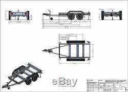 Generator Trailer Twin Axle Braked 2400kg NEW