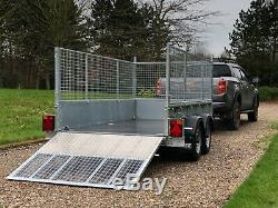 Goods Trailer 10' x 5'1 2700kg -Twin axle with gas assisted ramp & spare wheel