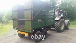 Griffiths 7 ton twin axle silage/grain trailer