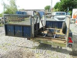 Heavy Duty Twin Axle 3 Tonne Metal Trailer With Hydraulic Crane No Vat