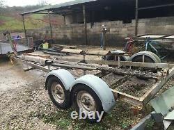 Heavy duty twin axle boat trailer suit boat up to 27 foot