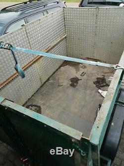 Heavy duty twin axle box trailer 6ftx10ft