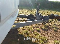 Hobby caravan trailer chassis spare or for storage. TWIN AXLE CARAVAN