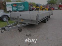 Hullco Galvanised Twin Axle Trailer Flatbed Double Drop Side Not Ifor Williams