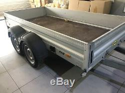 Humbaur Twin Axle Braked Aluminium Open Trailer German Made Barely Used