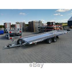 Hydraulic Tilt Bed Trailer 4,5m x 2,1m Twin Axle 2700KG Car Transporter