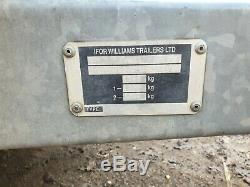 I for willams box trailer twin axle 2.5ton