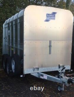 IFOR WILLIAMS 10ft x 5ft TWIN AXLE CATTLE TRAILER, CATTLE GATE + VAT