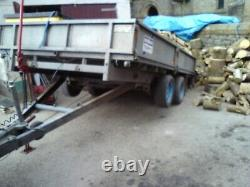 IFOR WILLIAMS LM 126 12' x 6'6 dropside trailer twin axle trailer 3.5 ton