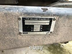 IFOR WILLIAMS TRAILER 10ft Includes Sides Model LT105G Flatbed Twin Axle 2.6 Ton