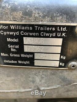 IFOR WILLIAMS TWIN AXLE DROP SIDE TRAILER 3500kg