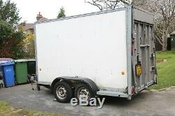 Ifor Williams 10'x8' twin Axle trailer with drop down tailgate