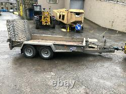 Ifor Williams 2017 GH1054BT 3.5 ton Twin Axle Plant Digger trailer beavertail