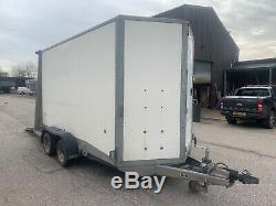Ifor Williams BV126G 3500KG twin axle 2014 box trailer