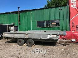 Ifor Williams Flatbed Trailer Galvanised Low Loading LL166G Towing Twin Axle