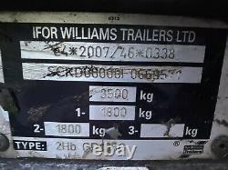 Ifor Williams GP106G Twin axle Plant Trailer 3500kg 10 x 6