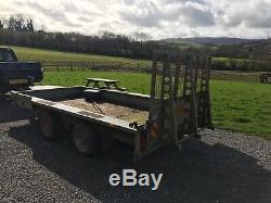 Ifor Williams GX126 Twin Axle 12x6ft 3.5 ton Plant car Trailer TA4 Williton area