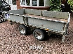 Ifor Williams LM105HD Drop Side Flat Bed Plant Trailer Twin Axle