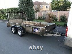 Ifor Williams LM125 Twin axle braked Trailer drop sides 12x5