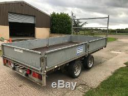 Ifor Williams LM126 Flat bed plant trailer twin axle 3500kg 12ft NO VAT