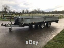 Ifor Williams LM146 Flat bed 14ft plant trailer twin axle 3500kg No VAT